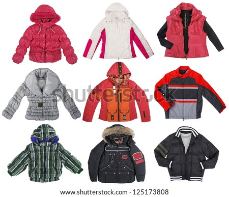 collection of color jacket - stock photo