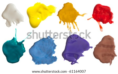 collection of colored splashes