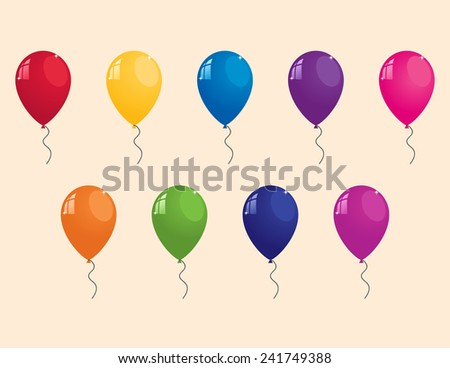 collection of colorful balloons