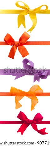 collection of colorful bows isolated