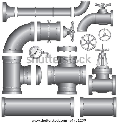 Collection of construction pipes-vector at portfolio