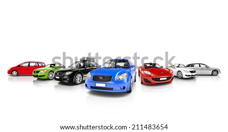 Collection of 3D Cars #211483654