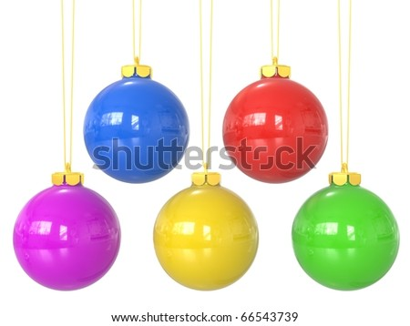 collection of 3d christmas balls