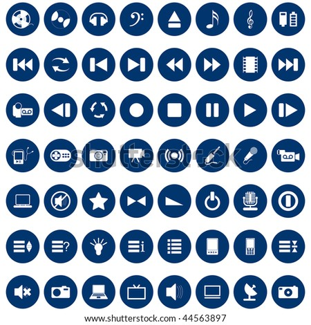 Collection of different music themes icons