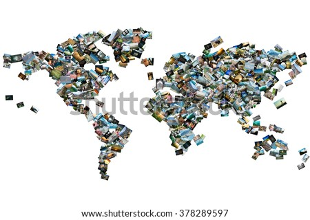 Free photos collage in the shape of a world map photos avopix collection of different photos placed as world map shape 378289597 gumiabroncs Gallery