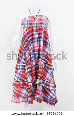 collection of dress on mannequin - stock photo