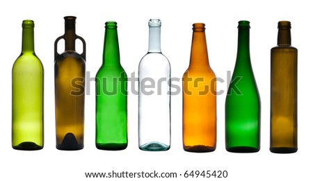Collection of empty bottles