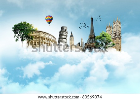 Collection of European monuments #60569074