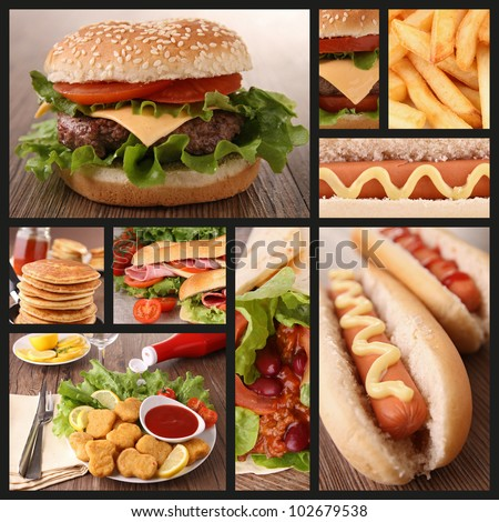 Shutterstock collection of fast food image