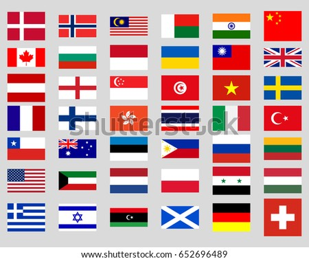 Collection of flags of the world