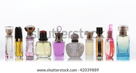 Collection of fragrances for women with Clipping Path