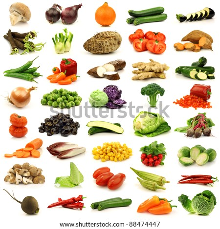 collection of fresh and colorful vegetables