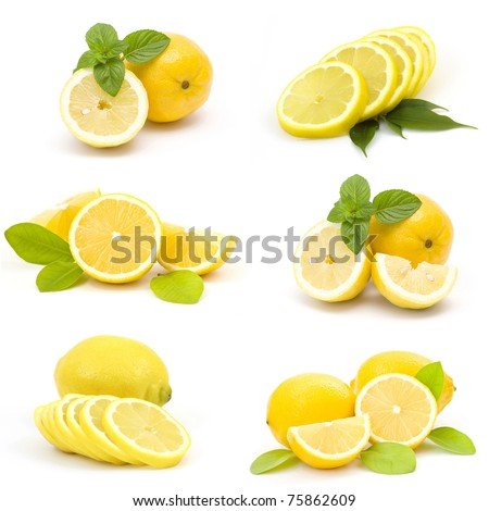 collection of fresh lemons