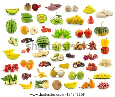 collection of fruit - stock photo
