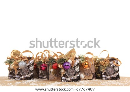collection of gift bags