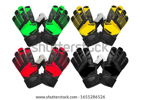 collection of goalkeeper glove isolated on white background Stock photo ©