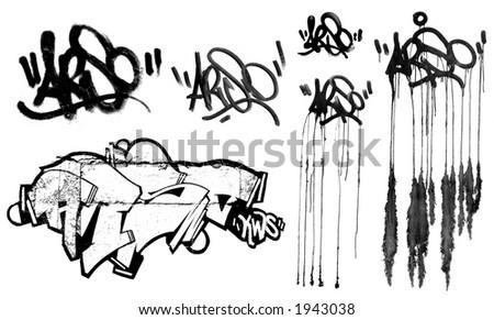 collection of graffiti stuff