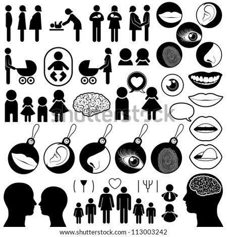 Collection of human related icons