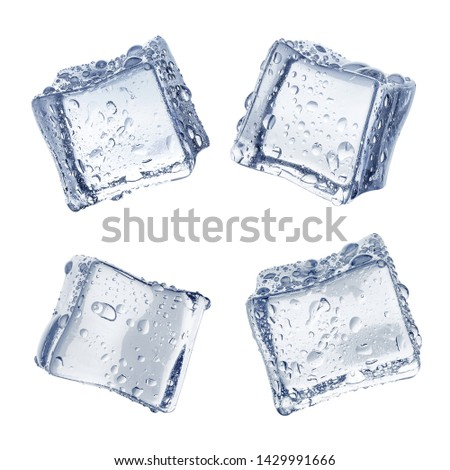 Collection of ice cubes, isolated on white background #1429991666