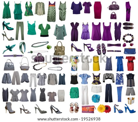 Collection of icons of clothes for the Internet of sites