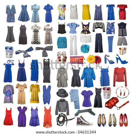 collection of icons of different clothes and accessories for the ...