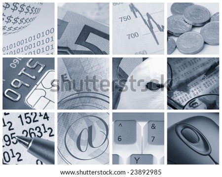 Collection of images relating to financial concepts