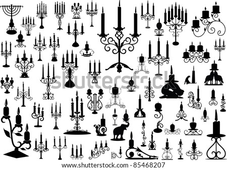 Collection of isolated candlesticks