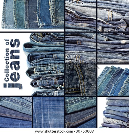 Collection of jeans background template for design work