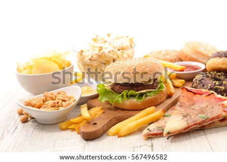 Shutterstock collection of junk food