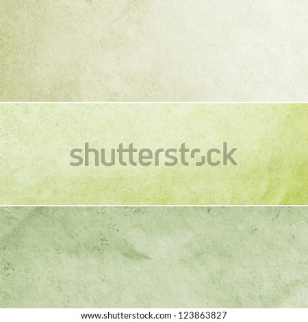 Collection of light green and yellow abstract vintage backgrounds. Various textures.