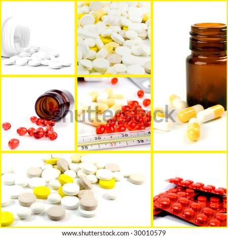 collection of medicines