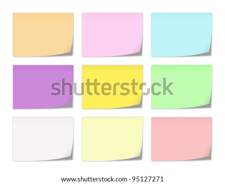 collection of memo note-papers in various colors
