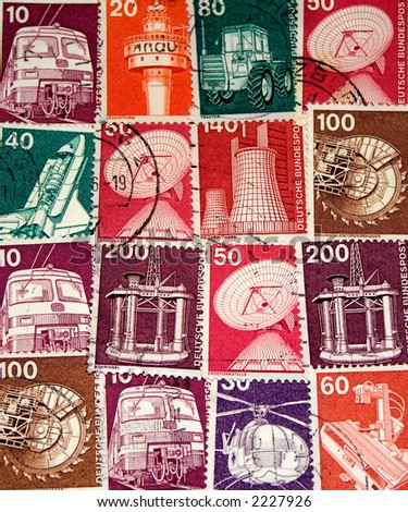 Collection of old West German Stamps