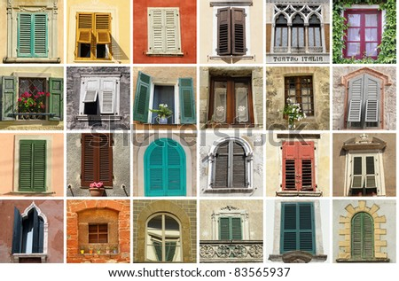 collection of old windows from Italy