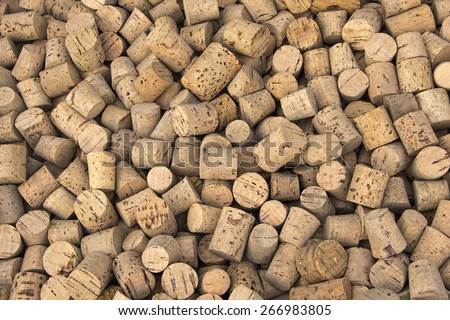 Collection of one hundred years old vintage and grunge corks from home-made winery.