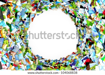 Collection of photos with blank space - stock photo