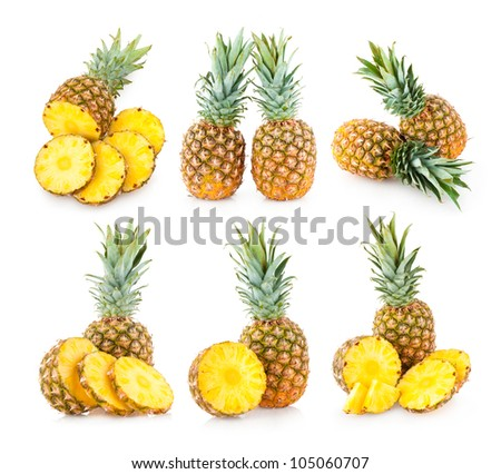 collection of 6 pineapple images
