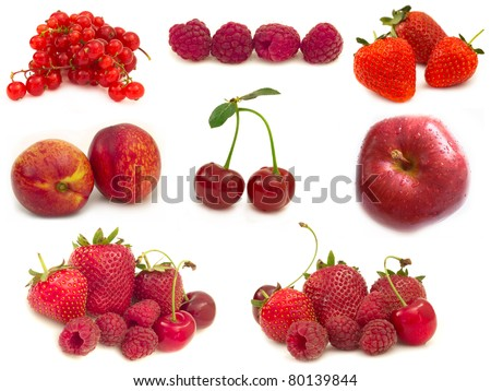 collection of red fruits