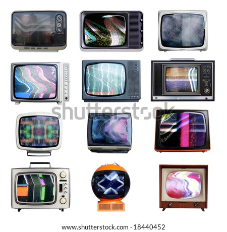 collection of retro television