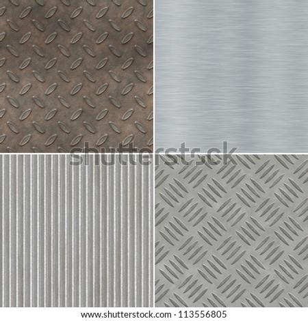 Collection of seamless metal textures
