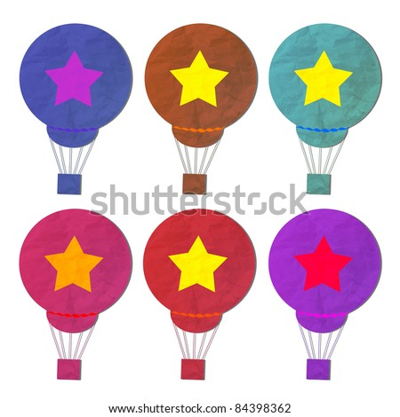 collection of star balloon object