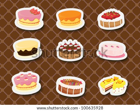 Collection of sweets and dessert stickers - EPS VECTOR format also available in my portfolio.