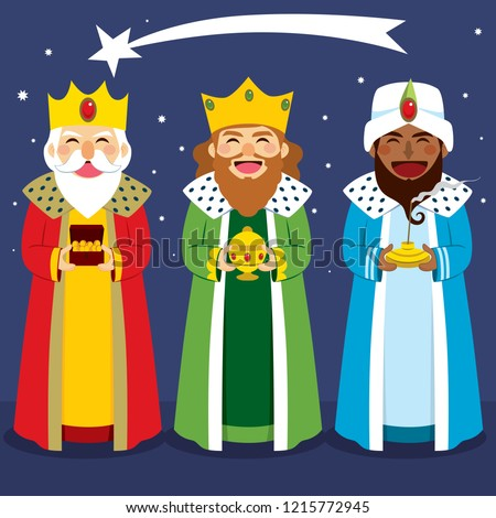 Collection of three wise men avatar expression and funny camel