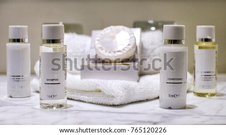 Collection of Toiletries with Face Cloth and Soap