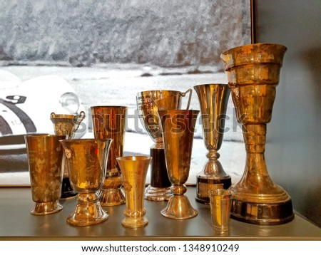 Collection of trophies or awards #1348910249
