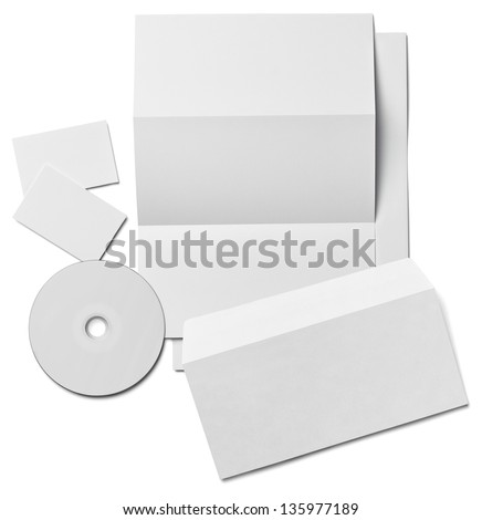 collection of various  blank white paper on white background. each one is shot separately #135977189