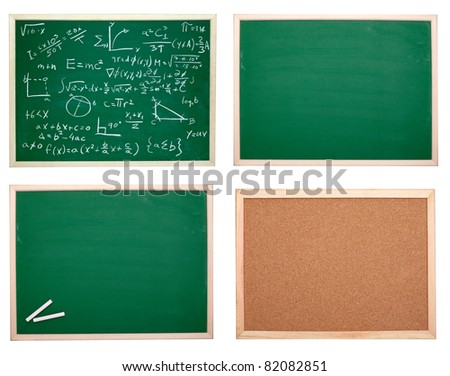 collection of various chalkboards