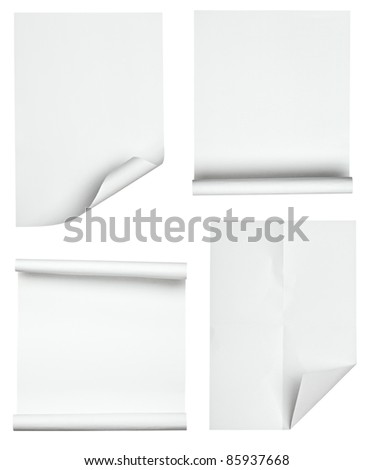 collection of various papers on white background. each one is shot separately