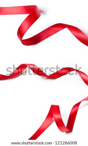 Collection of various red ribbons