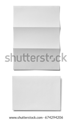 collection of  various white business print templates on white background. each one is shot separately #674294206